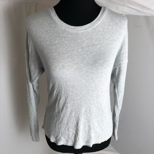 Nation LTD gray lightweight sweater w/lace inside